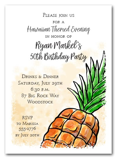 Pineapple Party Invitations for any occasion. Shop Announcingit.com