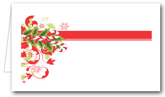 Candy Cane & Holly Place Cards