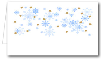 Gold Stars & Snowflakes Place Cards