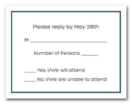 Denim Border RSVP Cards #8