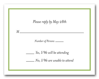 Green Border RSVP Cards #8