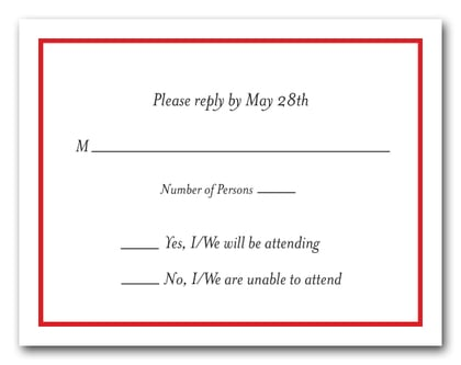 Red Border RSVP Cards #8