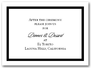 Reception Card Black Border #5