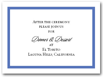 Reception Card Blue Border #5