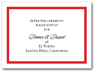 Reception Card Red Border #5