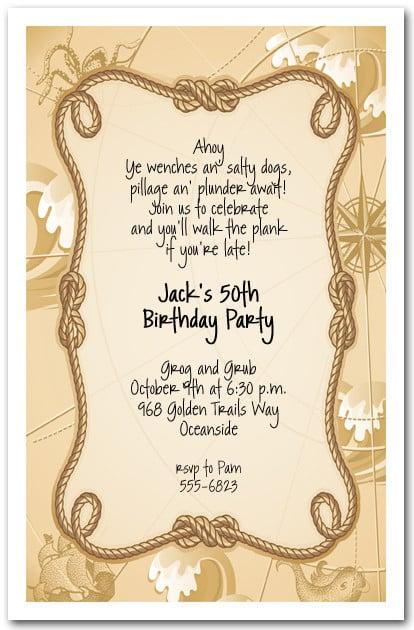 Pirate Party Invitations Kids Pirate Birthday Party Invitations – Pirate Birthday Invitations Wording