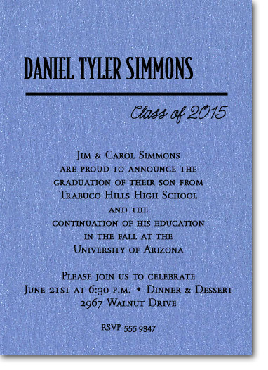 Shimmery Blue Classic Graduation
