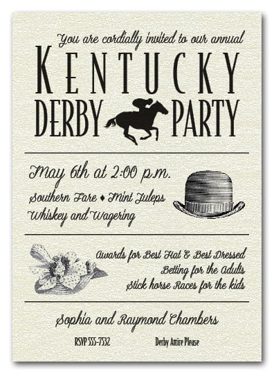 kentucky derby party invitations, derby invitations, Party invitations