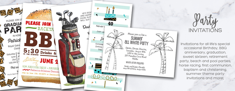 Party Invitations Custom Printed Party Invitations – Printed Party Invitations