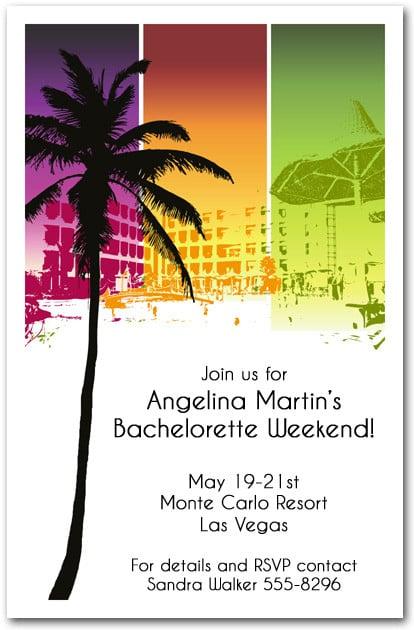 Summer Resort Party Invitations – Beach Party Invitation
