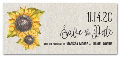 Sunflowers Save the Date