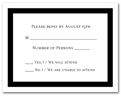Black Border RSVP Cards #5