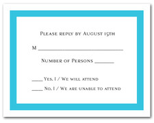 Turquoise Border RSVP Cards #5