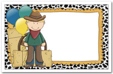 children's western birthday invitations, cowboy invitations, Party invitations