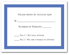 Blue Border RSVP Cards #5