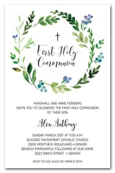 Blue Bud Wreath Communion