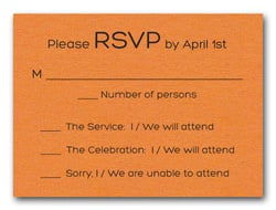 Shimmery Orange Bold Bar Mitzvah RSVP