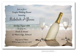 bottle in the sand pin it bottle in the sand couples shower invitations