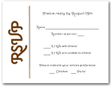 Brown on White RSVP Cards #6