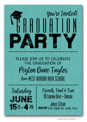 Shimmery Teal Dotted Graduation