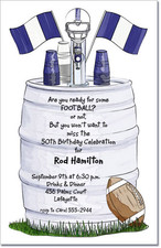 Football Keg - Blue & White