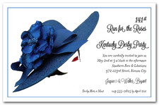Floral Blue Derby Hat
