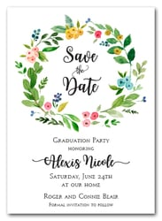 Donna Floral Wreath Save the Date