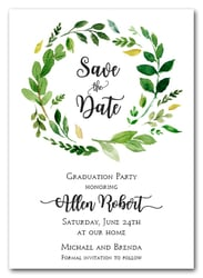 Grace Floral Wreath Save the Date