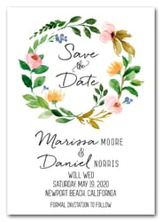 Hanna Floral Wreath Save the Date