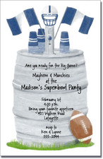 Football Keg - Navy & White
