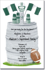 Football Keg - Green & White