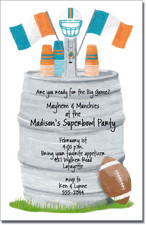 Football Keg - Teal & Orange