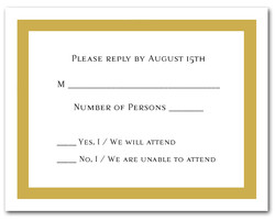 Gold Border RSVP Cards #5