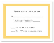 Goldenrod Border RSVP Cards #5