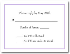 Lilac RSVP Cards #8