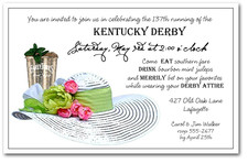 Mint Julep & White Derby Hat