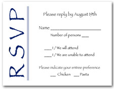 Navy on White RSVP Cards #6