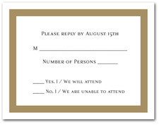 Oatmeal Border RSVP Cards #5