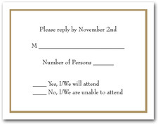 Oatmeal Border RSVP Cards #8