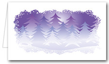 Purple Pines Place Cards