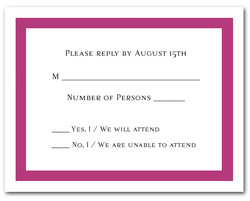 Plum Border RSVP Cards #5