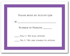 Purple Border RSVP Cards #5