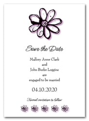 Purple Daisy Save the Date