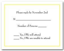 Yellow Border RSVP Cards #8