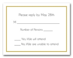 Gold Border RSVP Cards #8