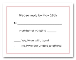 Light Pink Border RSVP Cards #8