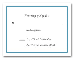 Peacock Border RSVP Card #8