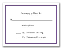 Purple Border RSVP Cards #8