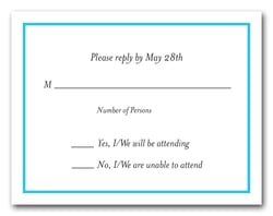 Turquoise Border RSVP Cards #8