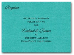 Shimmery Teal Info Cards